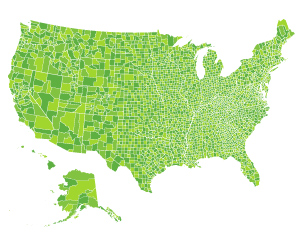 US Map Counties